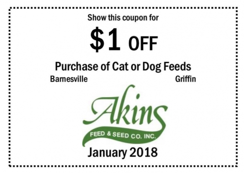 $1 OFF Your Purchase of Cat or Dog Feeds