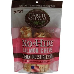 Earth Animal No-Hide Salmon Chews Dog Treats