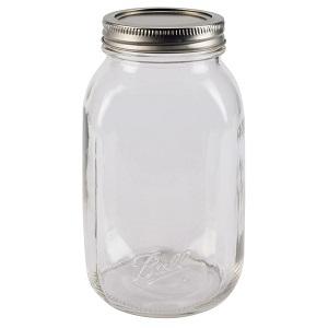 Ball Smooth-Sided Regular Mouth Quart 32 oz. Glass Mason Jars, 12 count
