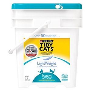 Tidy Cats Instant Action Lightweight Cat Litter 17 lb. Pail