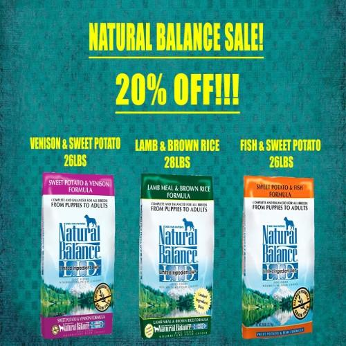 20% Off Natural Balance