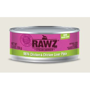RAWZ 96% Chicken & Chicken Liver Pate 5.5 Oz. for Cats