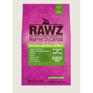 RAWZ Dehydrated Chicken, Turkey Recipe 3.5 Lb. Dry Cat food