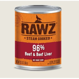 RAWZ 96% Beef & Beef Liver 12 Oz. for Dogs