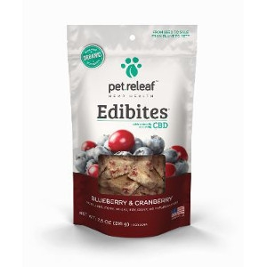 Pet Releaf Edibites Blueberry and Cranberry 7.5oz