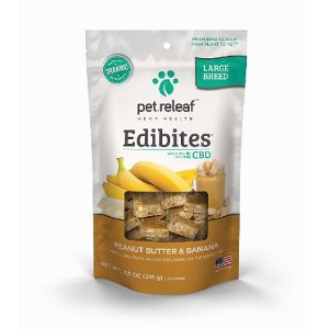 Pet Releaf Edibites Large Breed Peanut Butter and Banana 7.5oz