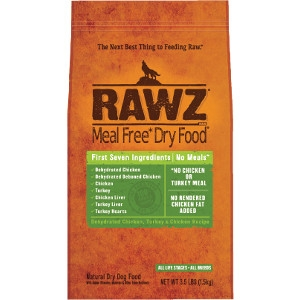 RAWZ Dehydrated Chicken, Turkey & Chicken Recipe 3.5 Lb. Dog Food
