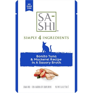 SA-SHI Bonito Tuna & Mackerel Recipe 1.76 Oz. Cat Food