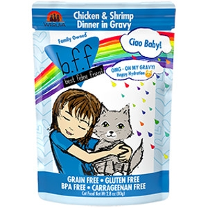 B.F.F Ciao Baby! Chicken & Shrimp Dinner in Gravy 2.8 oz. Pouch