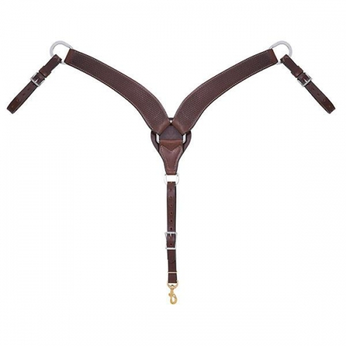 Basin Cowboy Roper Brown Breast Collar