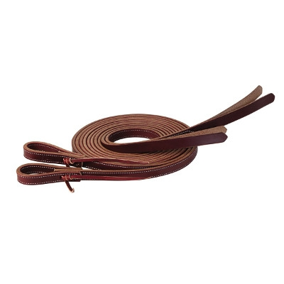 Protack Reins with Popper Ends, 5/8