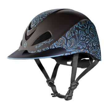 Fallon Taylor Turquoise Floral Helmet