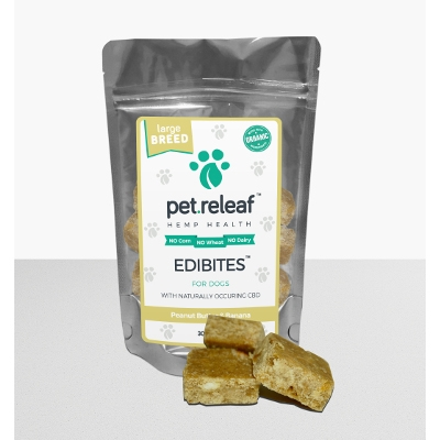 Peanut Butter and Banana Edibites for Dogs