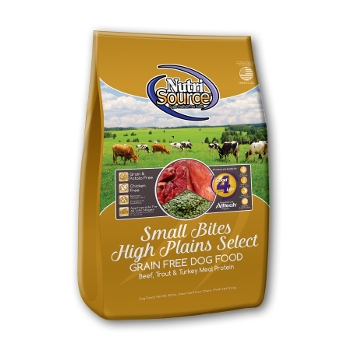NutriSource® Small Bites High Plains Select Grain Free Dry Dog Food