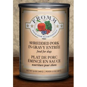 Fromm Four-Star Nutritionals Shredded Pork in Gravy Entree for Dogs