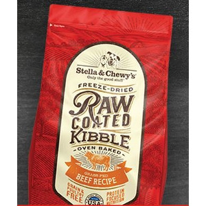 Raw Coated Kibble Grass-Fed Beef Recipe for Dogs