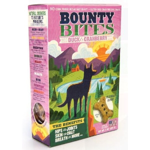 Duck & Cranberry Grain Free Baked Dog Treats by Bounty Bites