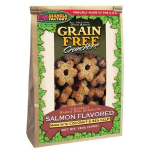 K9 Granola Factory Grain Free Crunchers Atlantic Salmon with Coconut & Sea Kelp