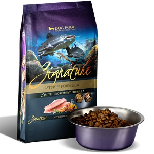 Zignature Catfish Formula Dry Dog Food 4.4 Lb.