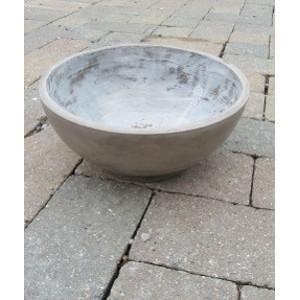 Chocolate Colored Fiber Clay Garden Bowl