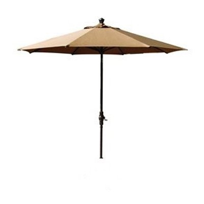 Treasure Garden Auto Tilt Bronze Patio Umbrella, 9ft