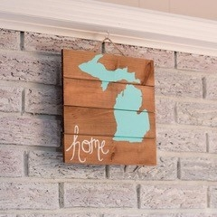 Michigan Home Wall Plaque