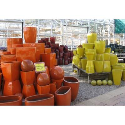 50% OFF Yellow & Orange Glazed Pottery