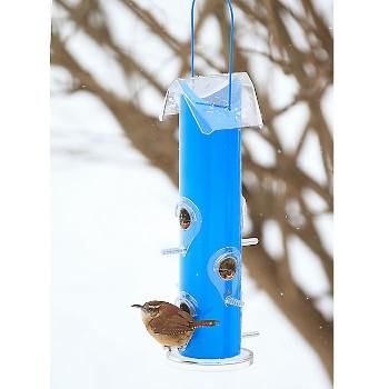 Perky Pet Blue Metal Tube Bird Feeder