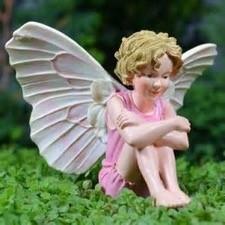Fairy in Pink Dress, Fairy Garden Accessory