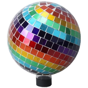 Rainbow Mosaic Gazing Ball by Very Cool Stuff