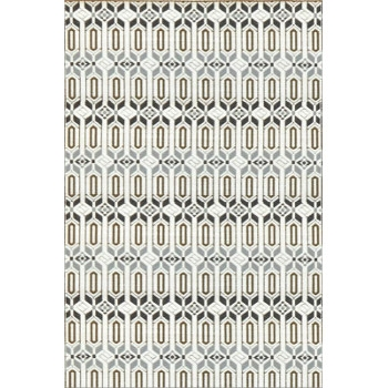 Cool Silver Moroccan Mad Mats, 6' x 9'