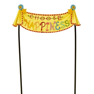 Studio-M 'Choose Happiness' Fairy Garden Banner