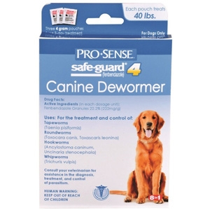 Safeguard Canine Dewormer for Medium Dogs