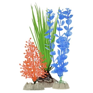 GloFish Plant Multipack- Small Blue, Medium Green, Large Orange