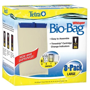 Whisper® Assembled BioBag Filter Cartridges- Large 8Pack