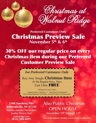 Christmas Preview Sale