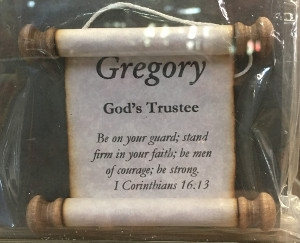 'Gregory' Name Scroll