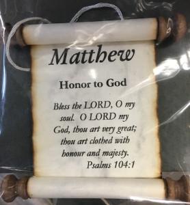 'Matthew' Name Scroll