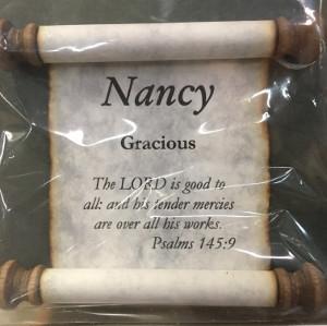 'Nancy' Name Scroll