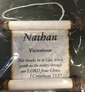 'Nathan' Name Scroll