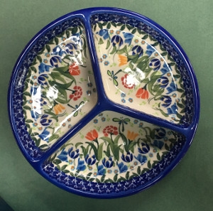 Mercedes Divided Platter by Lidia's Polish Pottery