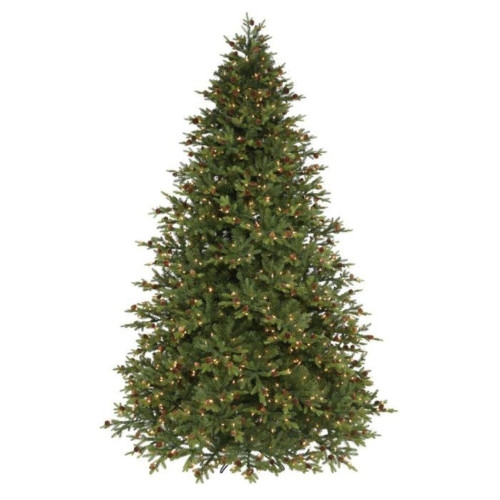 Slim Bavarian Pine with Pinecones Artificial Christmas Tree
