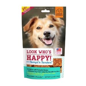 Look Who's Happy Tempt'n Tenders Chicken with Pumpkin Dog Treats