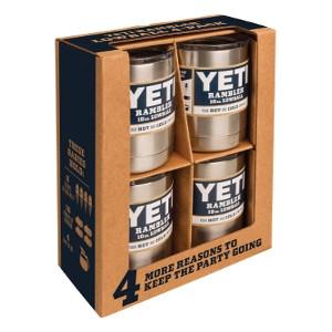 YETI Rambler Lowball Tumbler 10 oz. Stainless Steel 4 pk