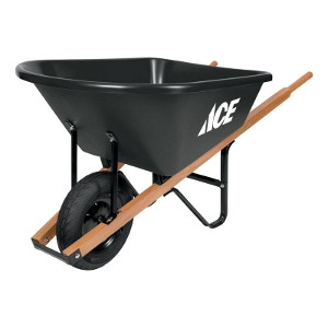 Ace Poly Single Wheel Residential Wheelbarrow 6 cu. ft.