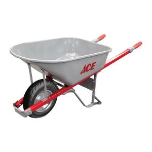 Ace Steel Single Wheel Wheelbarrow 6 cu. ft.