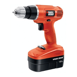 Black & Decker 18 volts 3/8 in. Cordless Drill/Driver Kit 0-750 rpm