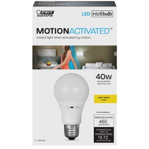FEIT Electric Intellibulb LED Motion Sensing Light Bulb 6 watts