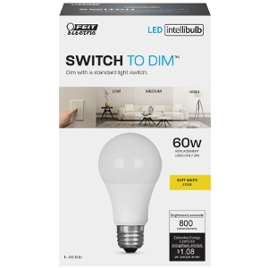 FEIT Electric Intellibulb LED Dimmable Light Bulb 9 watts