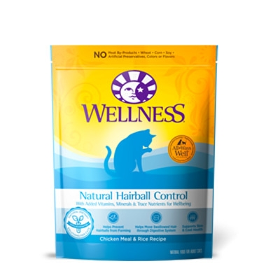 Wellness Natural Hairball Control Cat Food, 2.5 lbs.